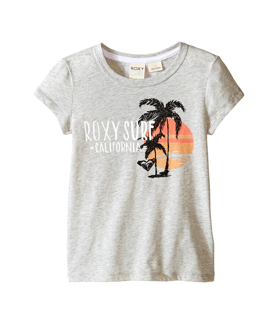 Roxy Kids - Cali Beach Short Sleeve Tee (Toddler/Little Kids) (Medium Heather) Girl's T Shirt