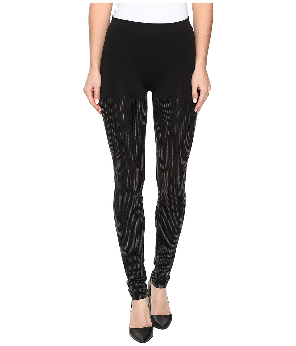 Wolford - Diamond Shine Leggings (Black/Black) Women's Workout