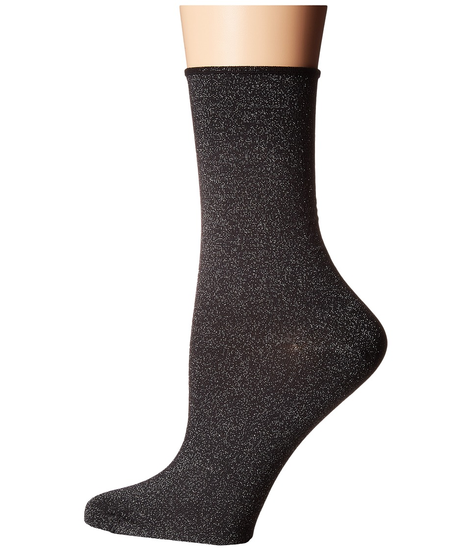 Wolford - Lian Socks (Black/Silver) Women's Crew Cut Socks Shoes