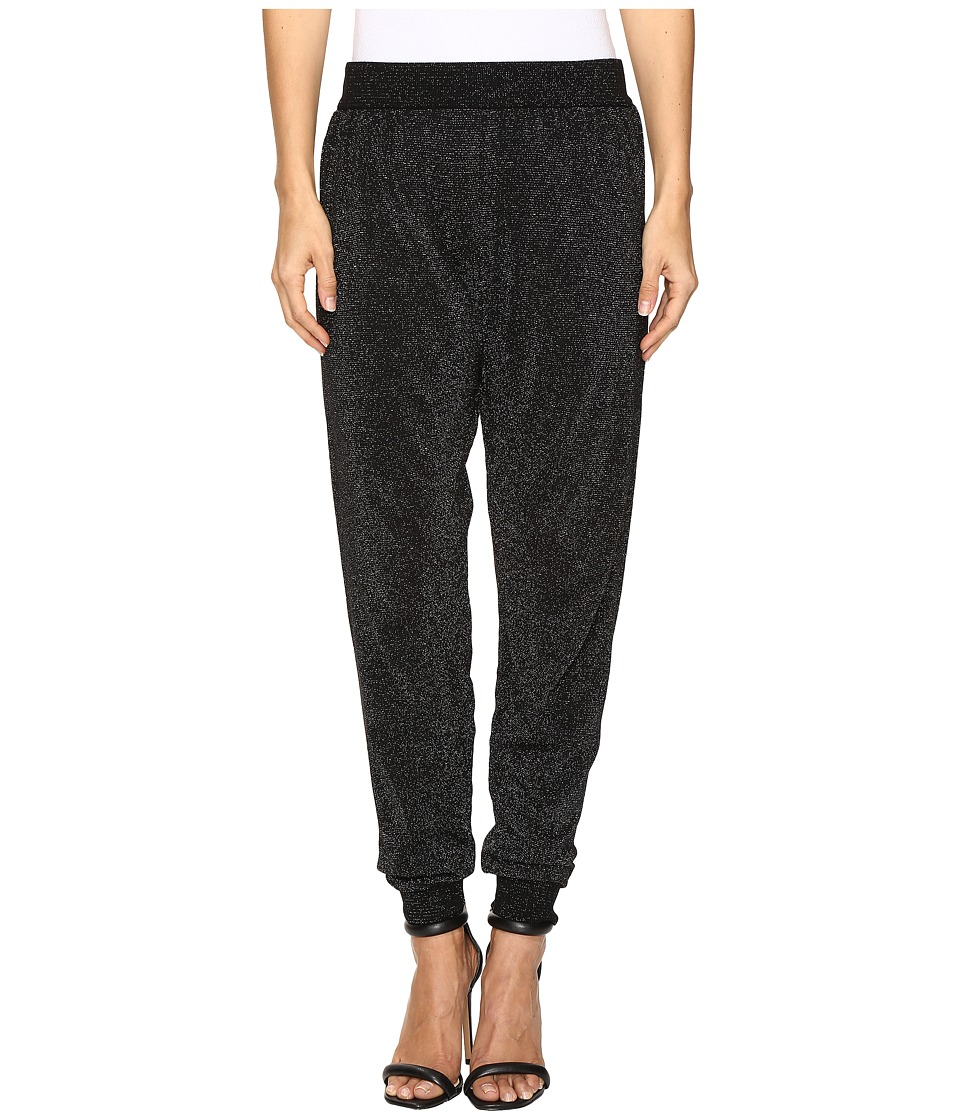 Wolford - Lurex Knit Trousers (Black/Silver) Women's Casual Pants