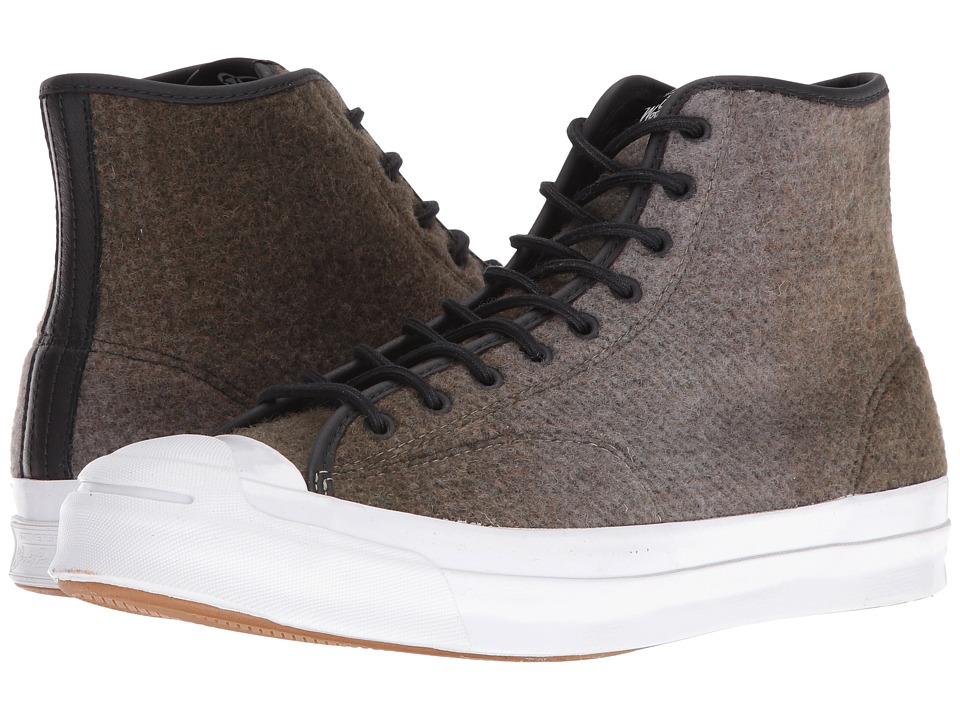 Converse - Jack Purcell Signature Woolrich Hi (Jute/Dolphin/Black) Men's Shoes