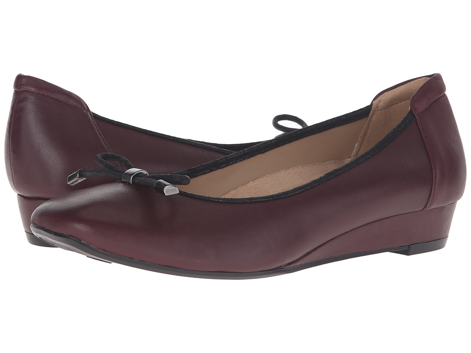 Naturalizer - Dove (Bordo Leather) Women's Wedge Shoes