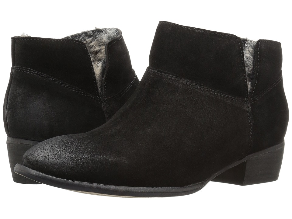 Seychelles - Snare Cozy (Black Suede/Fur) Women's Pull-on Boots