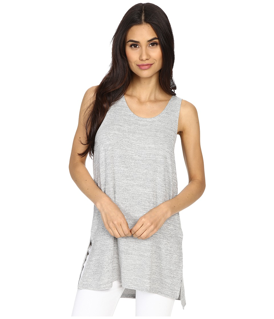 Culture Phit - Abbey Tank Top with Side Slits (Silver) Women's Sleeveless