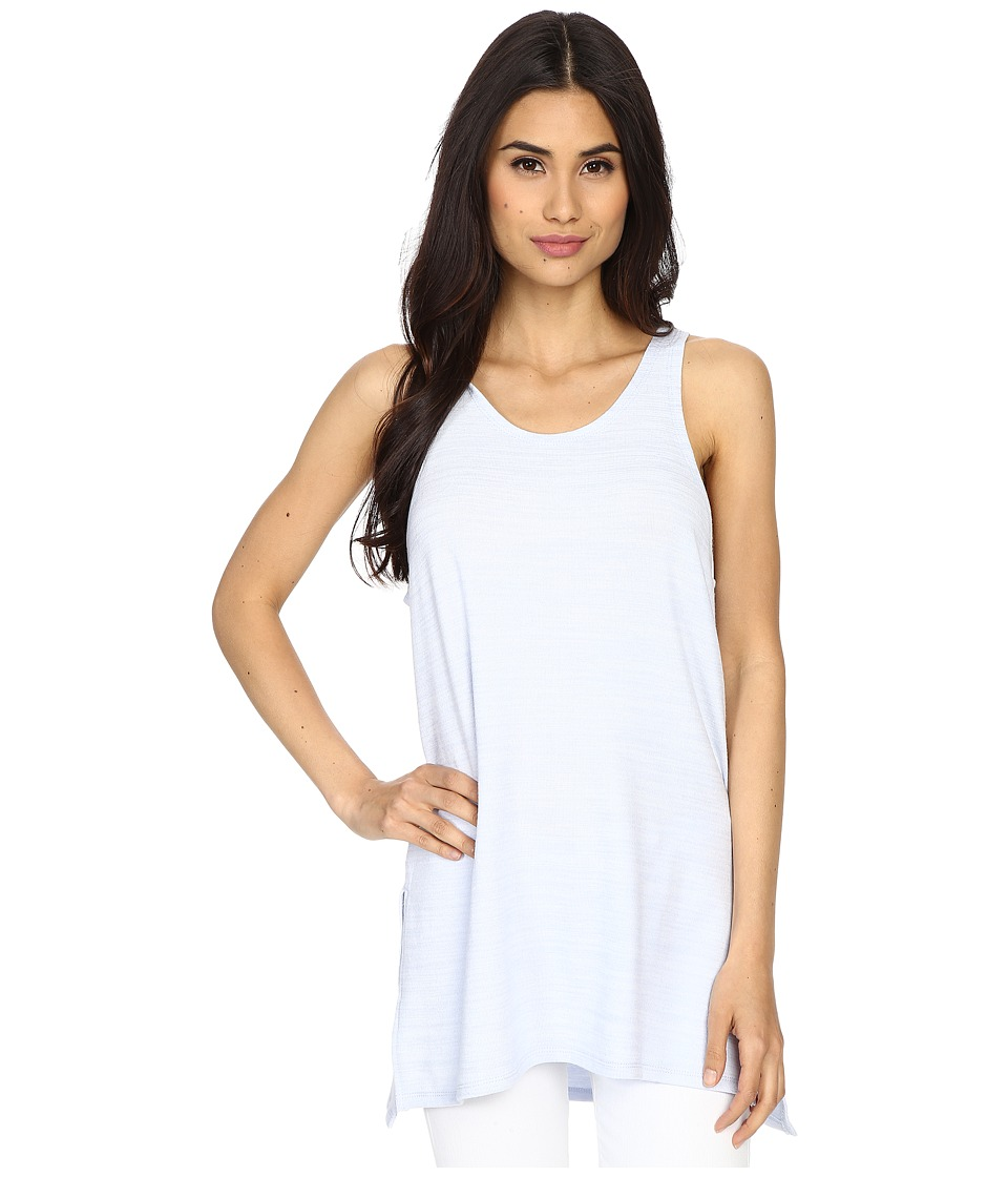 Culture Phit - Abbey Tank Top with Side Slits (Baby Blue) Women's Sleeveless