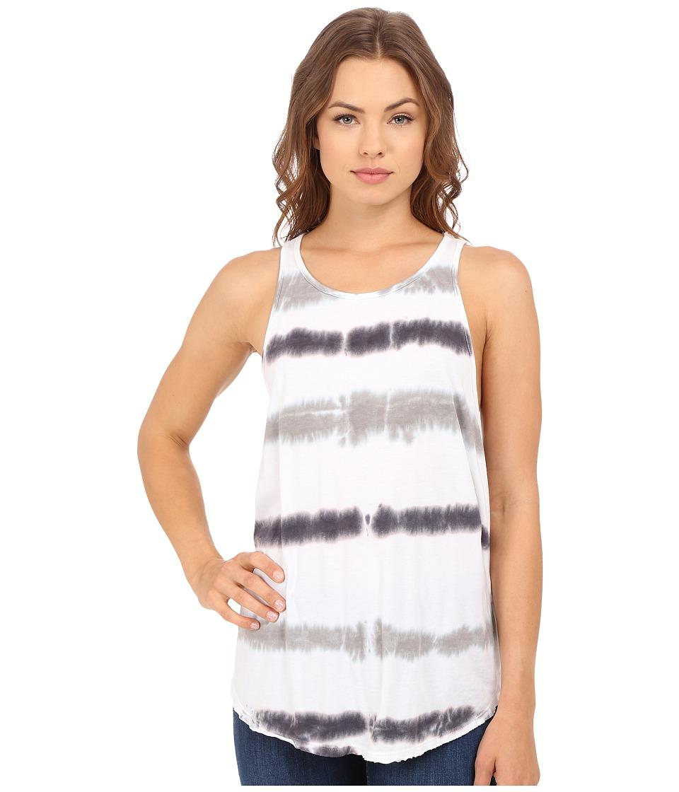 Culture Phit - Abrielle Sleeveless Tie-Dye Tank Top (White/Taupe) Women's Sleeveless
