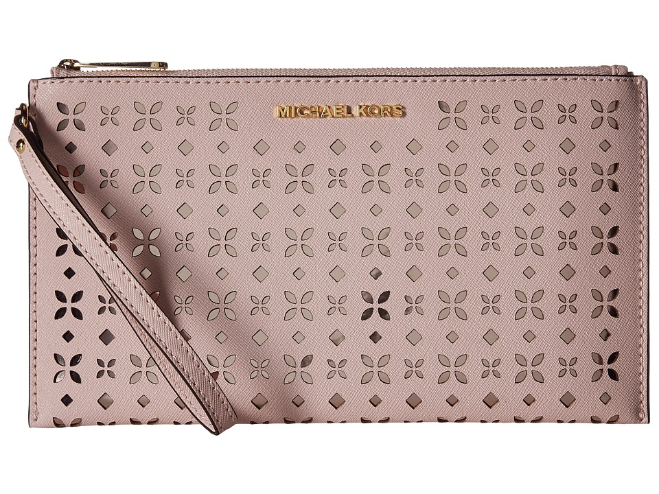 MICHAEL Michael Kors - Jet Set Travel Large Zip Clutch (Blossom/Ballet) Clutch Handbags