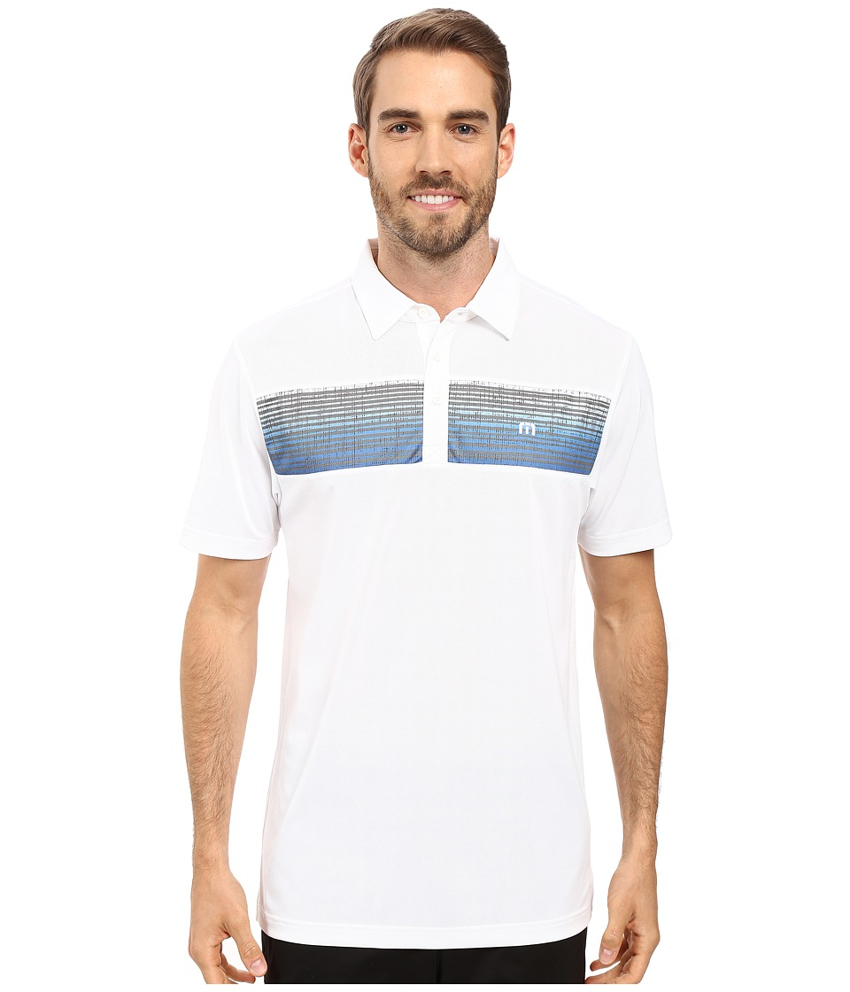 TravisMathew - MK Polo (White) Men's Clothing