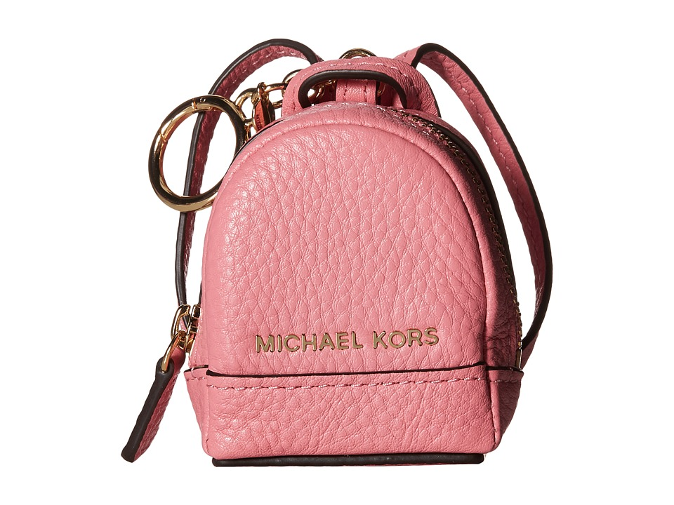 MICHAEL Michael Kors - Leather Charms Rhea Backpack (Misty Rose) Wallet