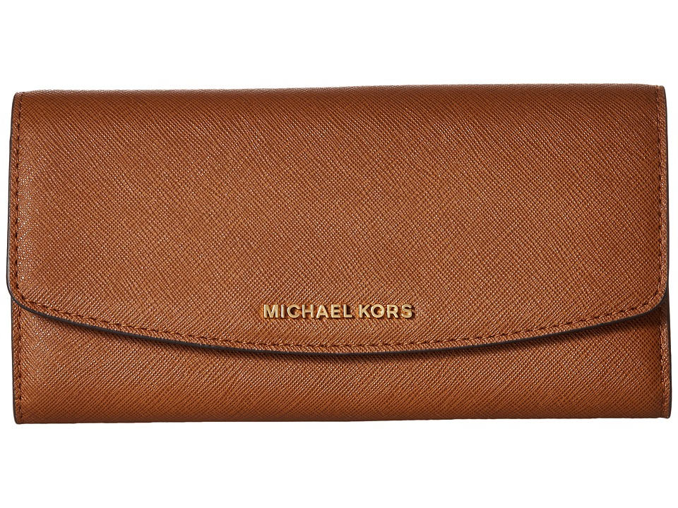 MICHAEL Michael Kors - Ava Large Trifold Wallet (Luggage) Wallet Handbags