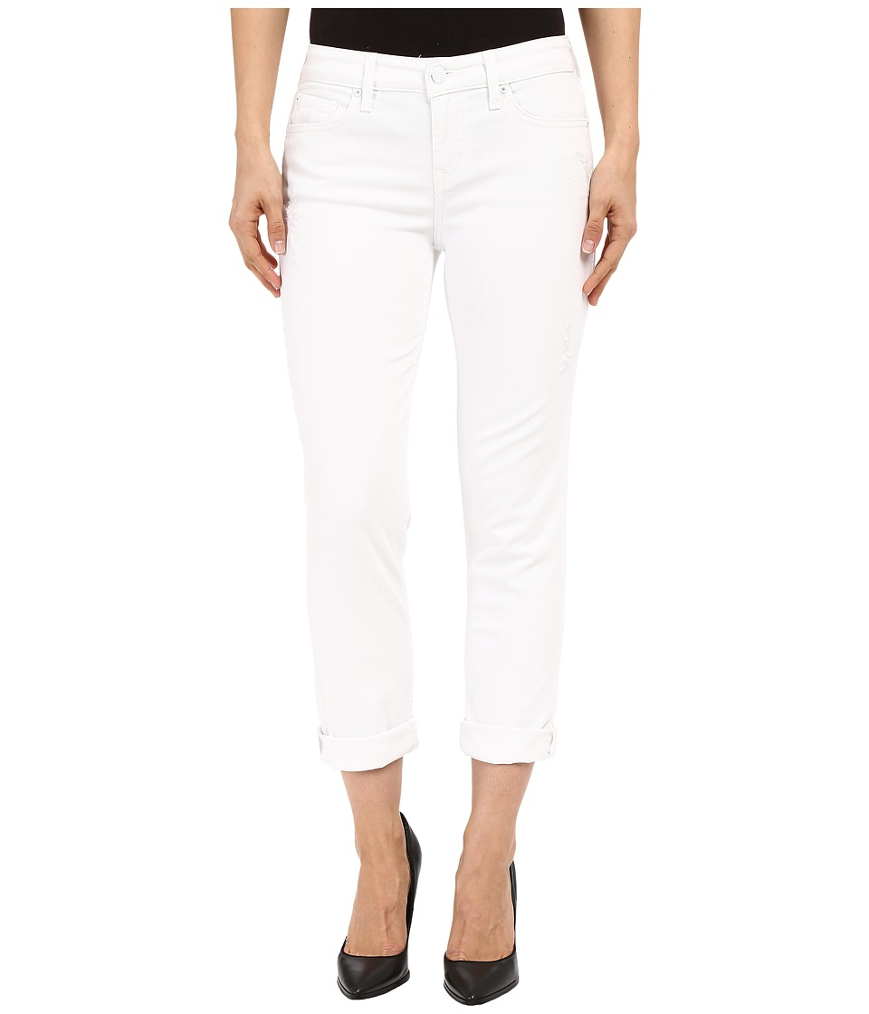 Level 99 - Lily Mid-Rise Crop Roll Up Skinny Straight in White Crush (White Crush) Women's Jeans