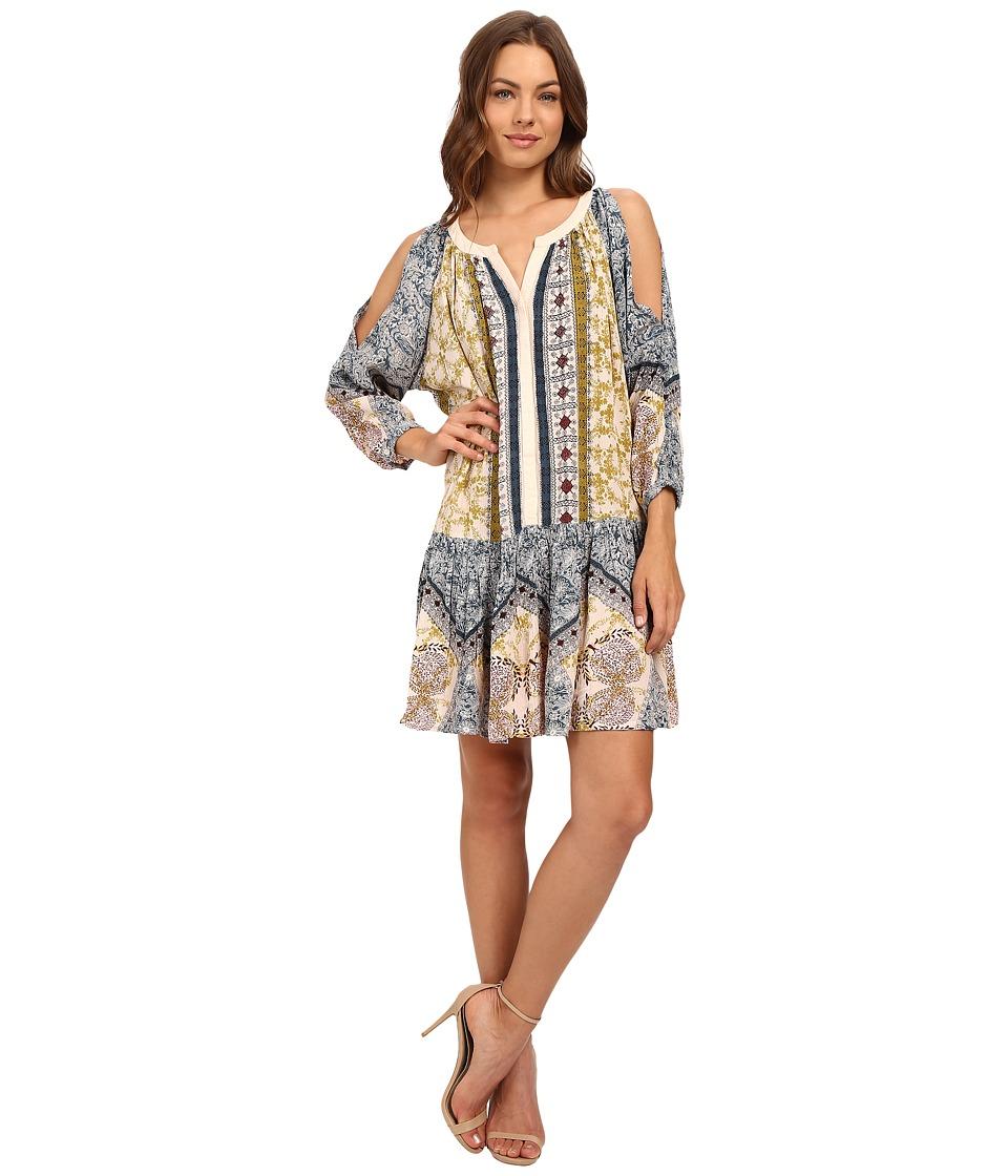 Brigitte Bailey - Brista Patchwork 3/4 Sleeve Top (Multi) Women's Dress