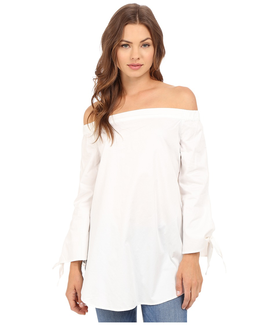 Brigitte Bailey - Briana Off the Shoulder 3/4 Sleeve Top (White) Women's Blouse