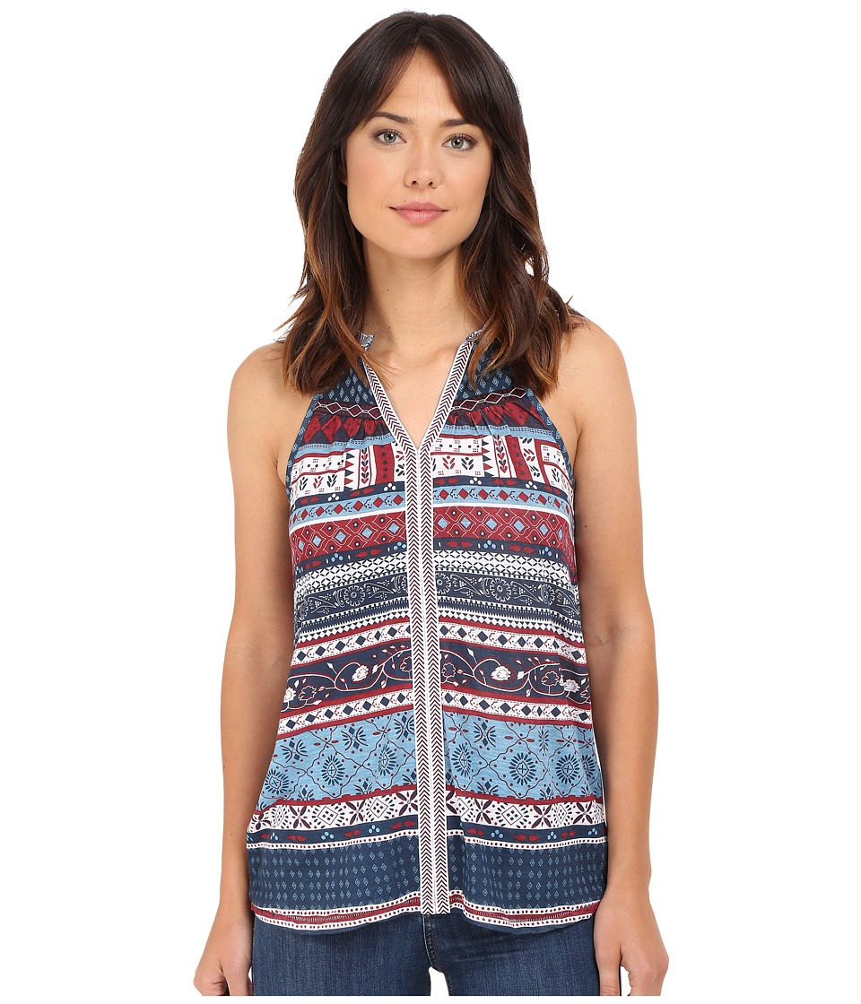 Brigitte Bailey - Damaris Sleeveless Printed Top (Blue) Women's Sleeveless