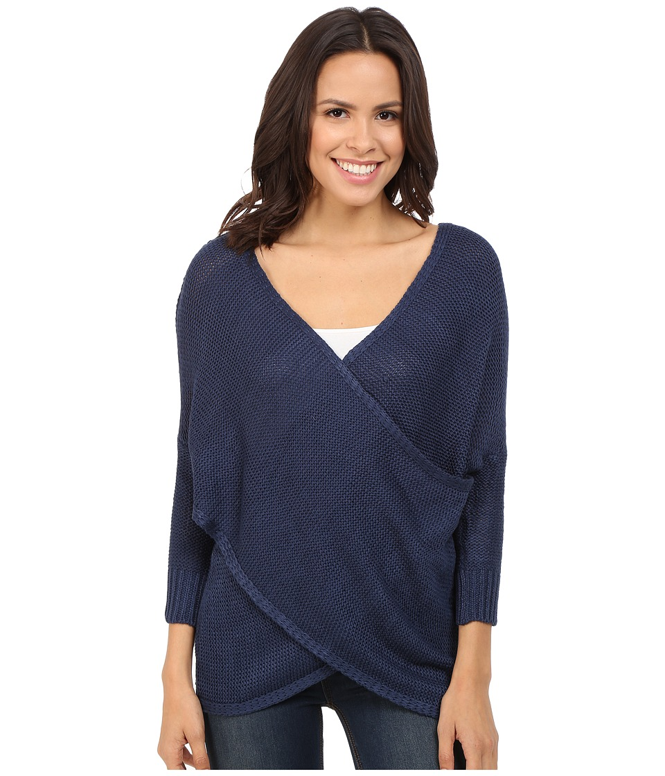 Brigitte Bailey - Aiyanna Cross-Front Sweater (Midnight) Women's Sweater