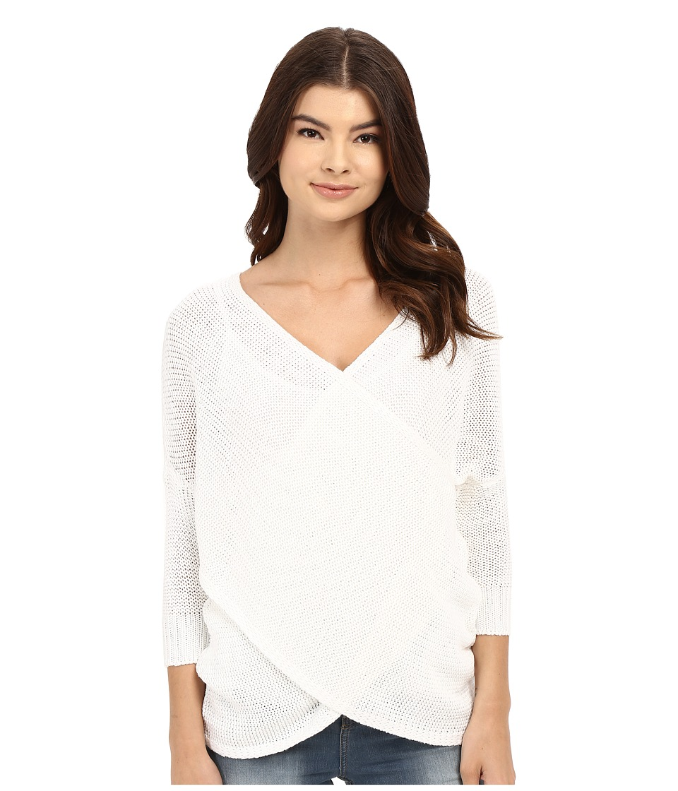 Brigitte Bailey - Aiyanna Cross-Front Sweater (White) Women's Sweater