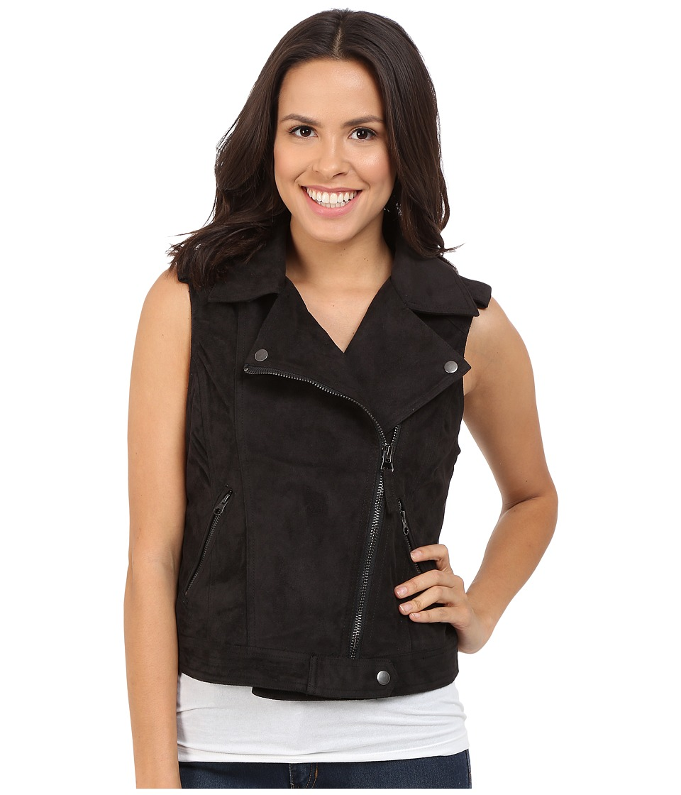 Brigitte Bailey - Adia Motorcycle Vest (Black) Women's Vest