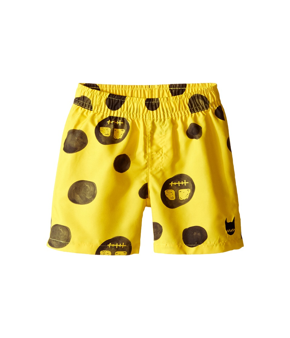 Munster Kids - Faces Boardshorts (Infant) (Yellow) Boy's Swimwear