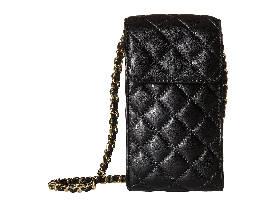 MICHAEL Michael Kors - Sloan Phone Chain Crossbody (Black) Cross Body Handbags