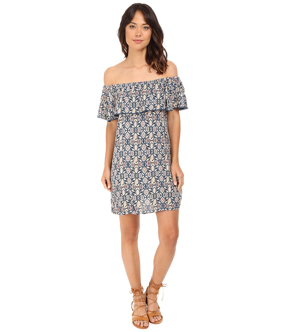 Brigitte Bailey - Bristol Ruffle Top Dress (Blue) Women's Dress