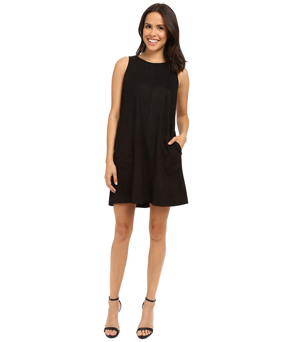 Brigitte Bailey - Aisha Sleeveless Faux Suede Dress (Black) Women's Dress