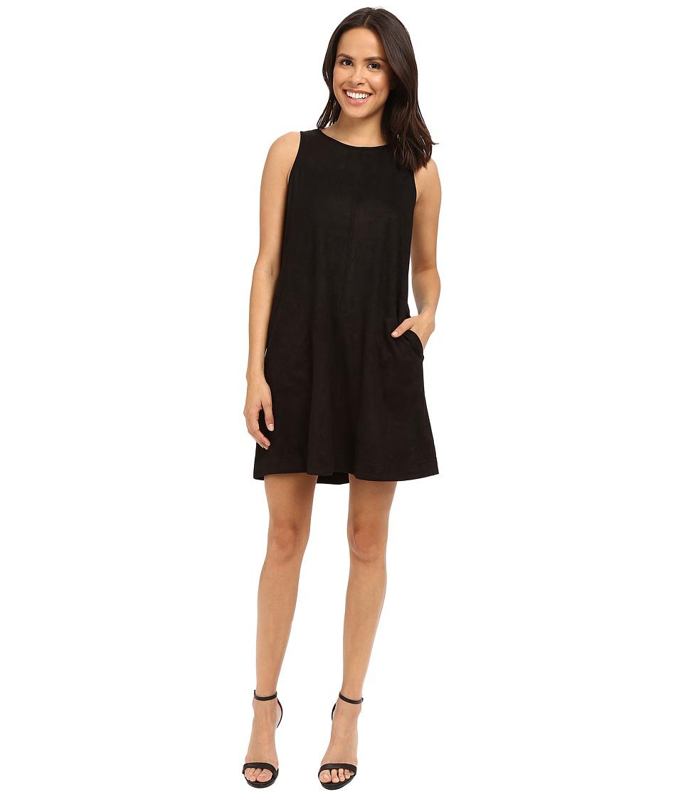 Brigitte Bailey Aisha Sleeveless Faux Suede Dress (Black) Women