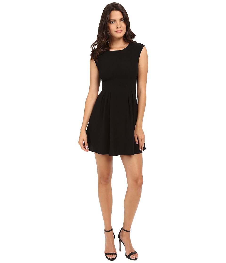 Brigitte Bailey - Delaney Cap Sleeve Pleated Dress (Black) Women's Dress