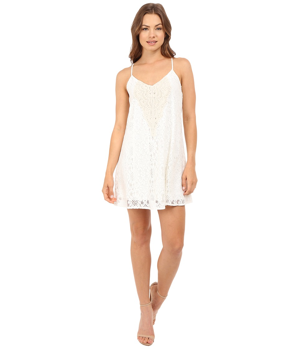 Brigitte Bailey - Demi Spaghetti Strap Crocheted Dress (Ivory) Women's Dress