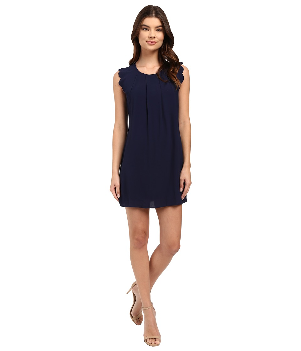 Brigitte Bailey - Edith Scallop Sleeve Dress (Navy) Women's Dress
