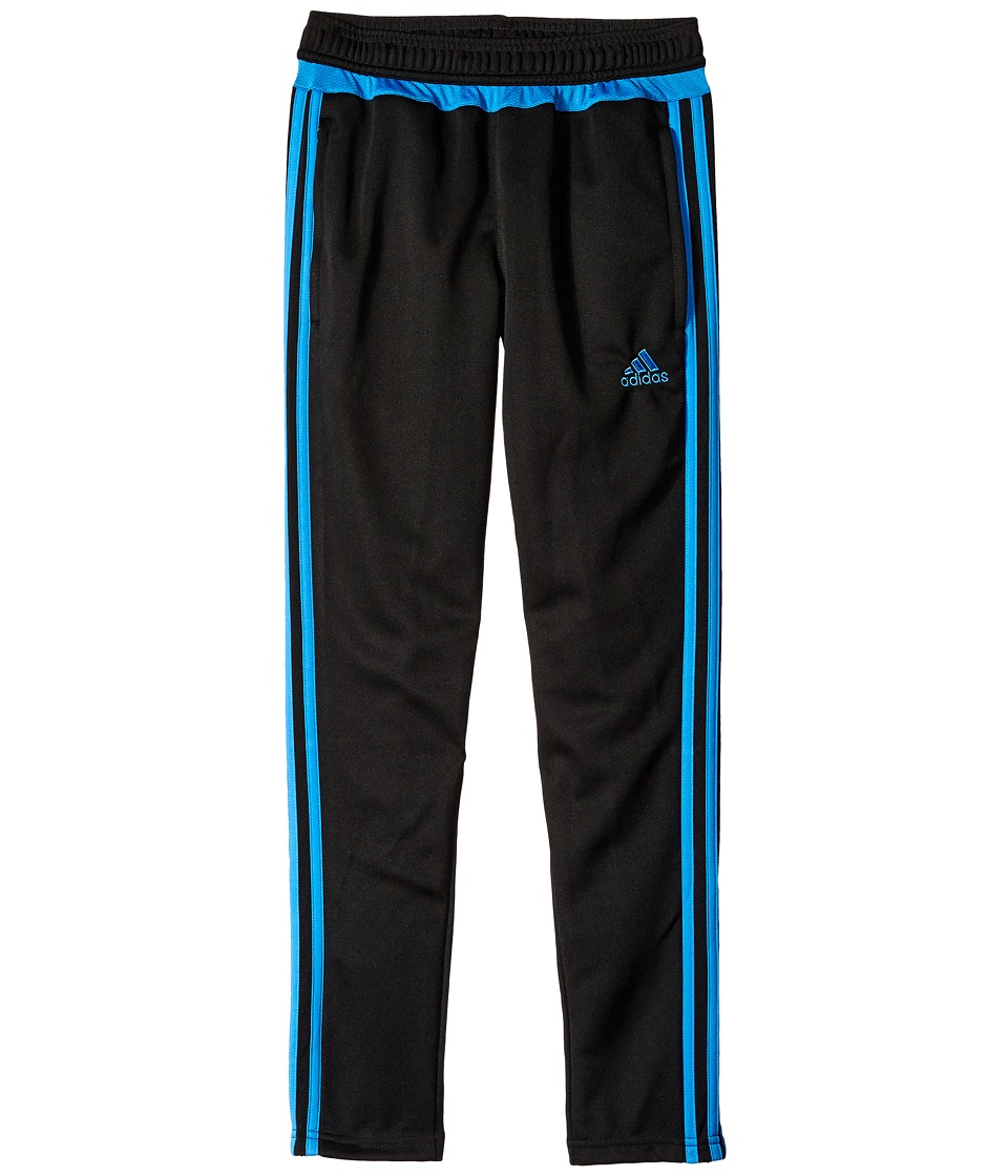 adidas Kids - Tiro 15 Training Pants (Little Kids/Big Kids) (Black/Ray Blue) Kid's Workout