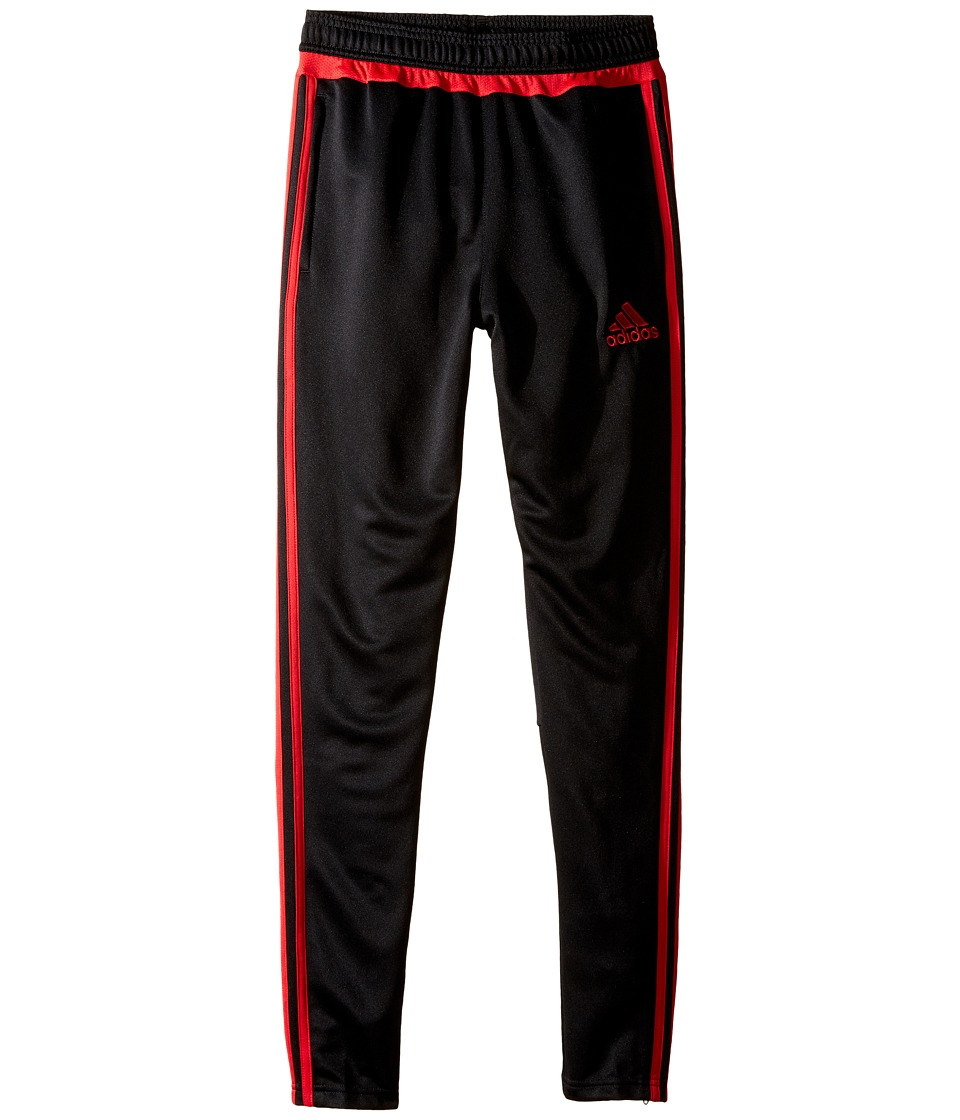 adidas Kids - Tiro 15 Training Pants (Little Kids/Big Kids) (Black/Ray Red) Kid's Workout
