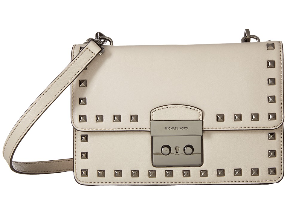 MICHAEL Michael Kors - Sloan Stud Small Gusset Crossbody (Cement) Cross Body Handbags