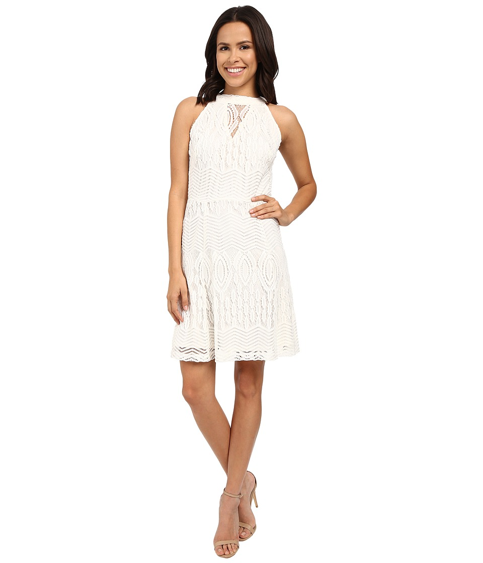 Christin Michaels - Eden Sleeveless Lace Dress (Ivory) Women's Dress