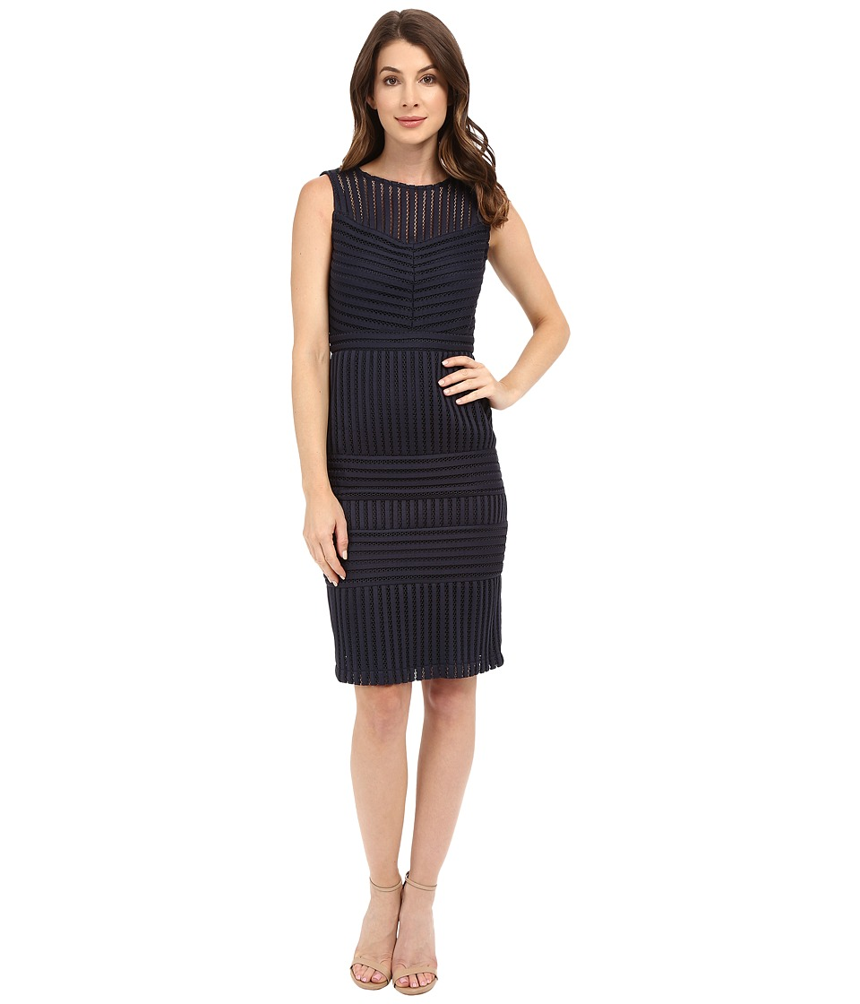 Christin Michaels Holly Sleeveless Flare Dress (Navy) Women