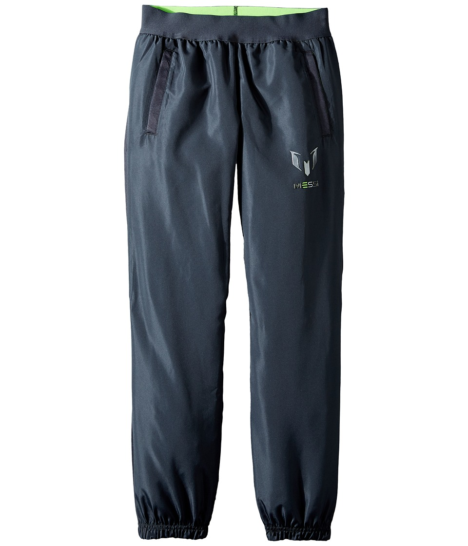 adidas Kids - Messi Woven Pants (Little Kids/Big Kids) (Dark Grey/Solar Green) Kid's Casual Pants
