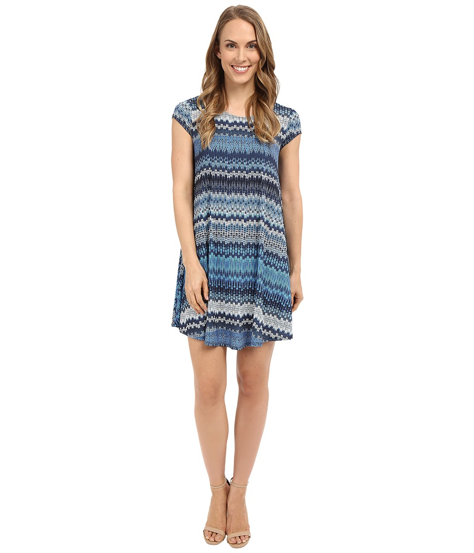 Karen Kane Blue Mesa Maggie Trapeze Dress (Print) Women