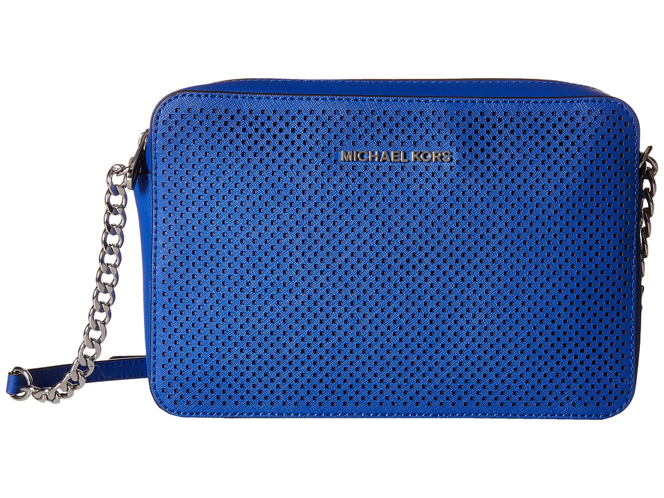 MICHAEL Michael Kors - Jet Set Travel Large East/West Crossbody (Electric Blue) Cross Body Handbags