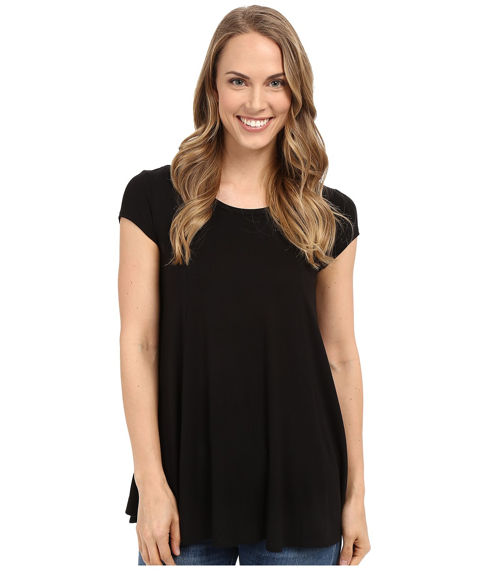Karen Kane Keyhole Back Swing Tee (Black) Women