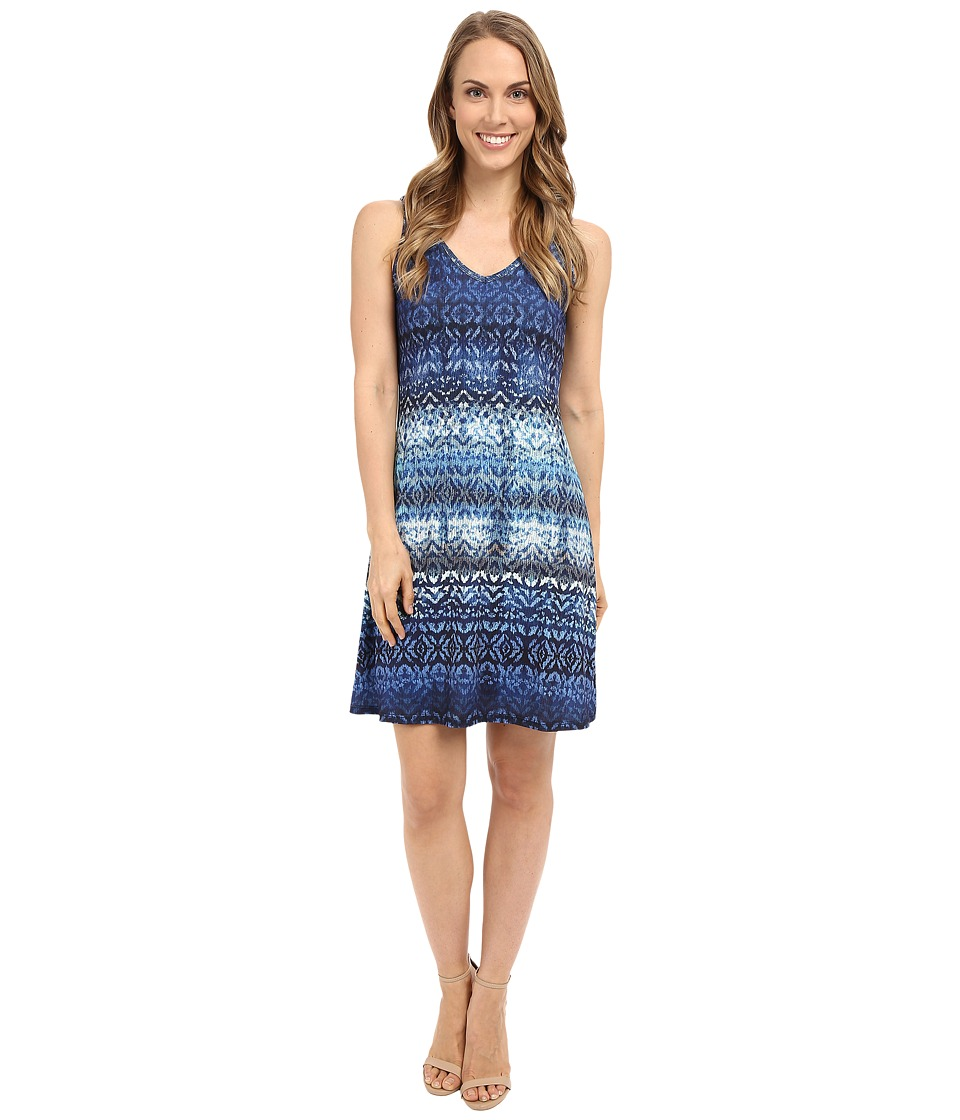 Karen Kane Blue Batik Brigitte Dress (Print) Women