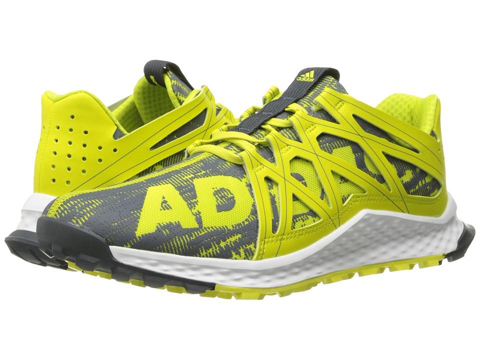 adidas Running - Vigor Bounce (Shock Slime/Dark Grey/White) Men's Running Shoes