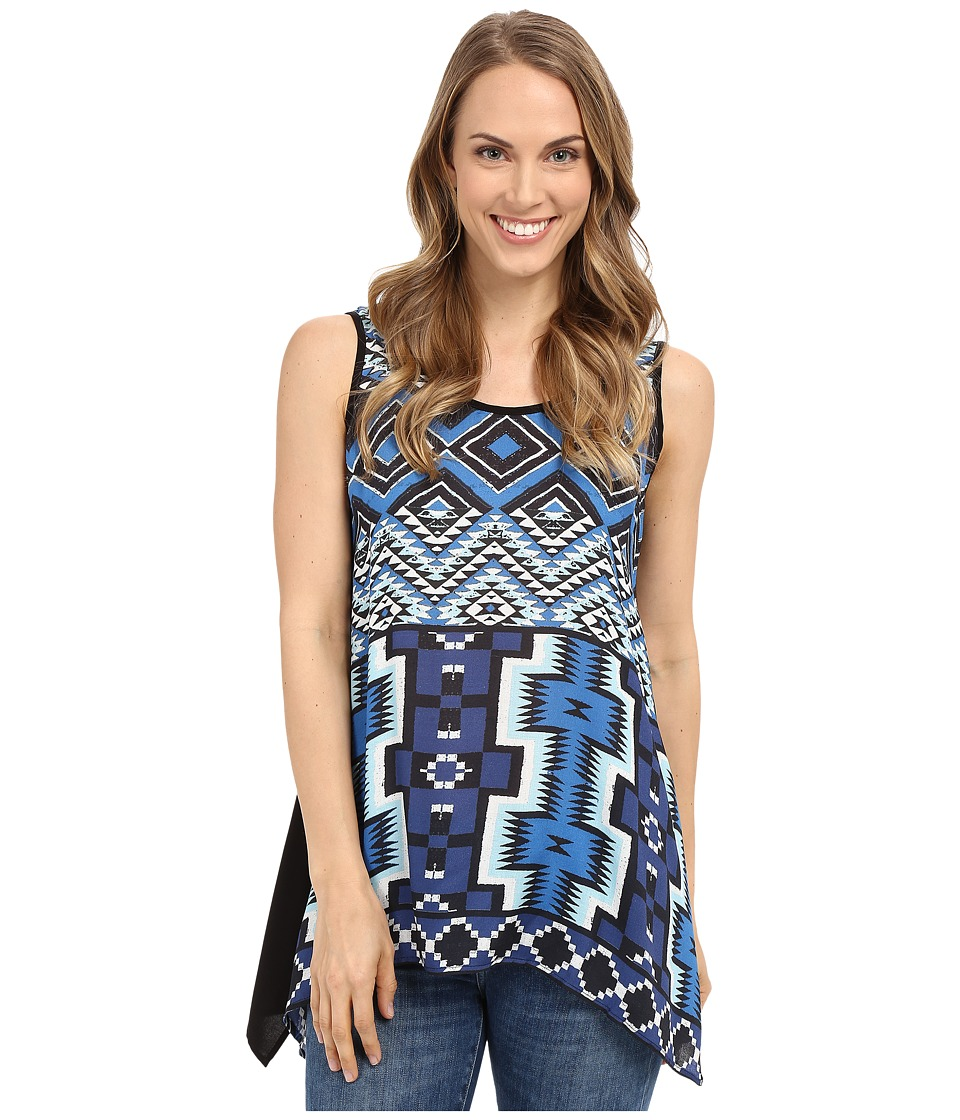 Karen Kane - Aquamarine Handkerchief Tank Top (Print) Women's Sleeveless