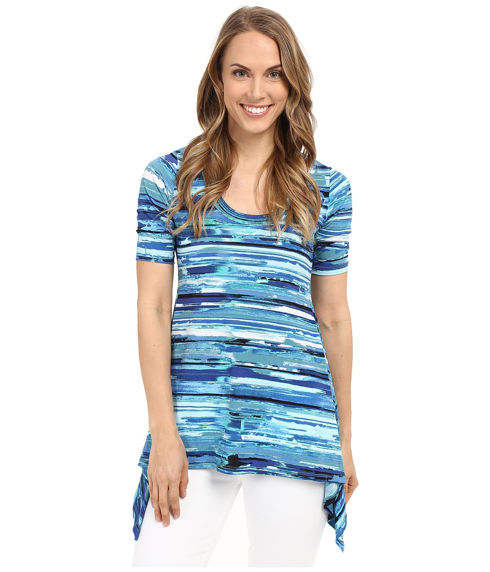 Karen Kane - Painted Water Handkerchief Top (Print) Women's Clothing