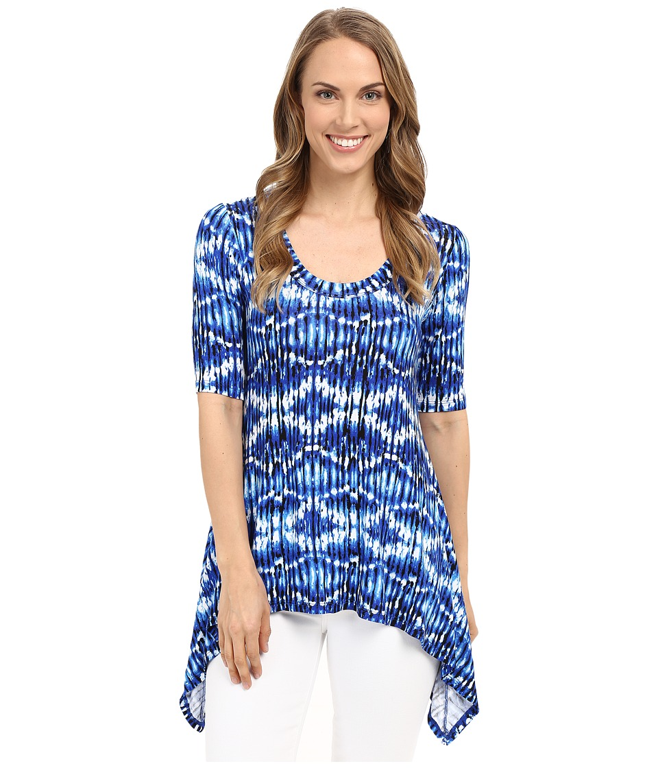 Karen Kane - Pencil Sleeve Handkerchief Top (Print) Women's Clothing