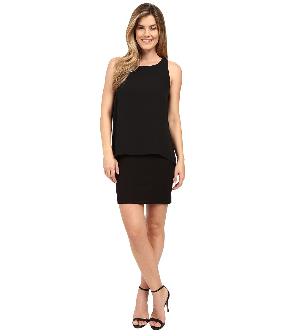 Karen Kane - Hallie Double Layer Dress (Black) Women's Dress