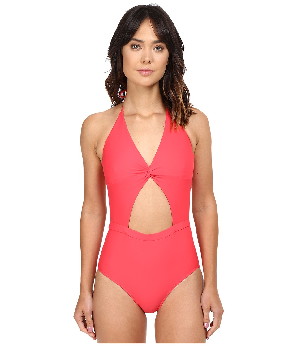 6 Shore Road by Pooja - Coco Floral Divine One-Piece (Marigold) Women's Swimsuits One Piece