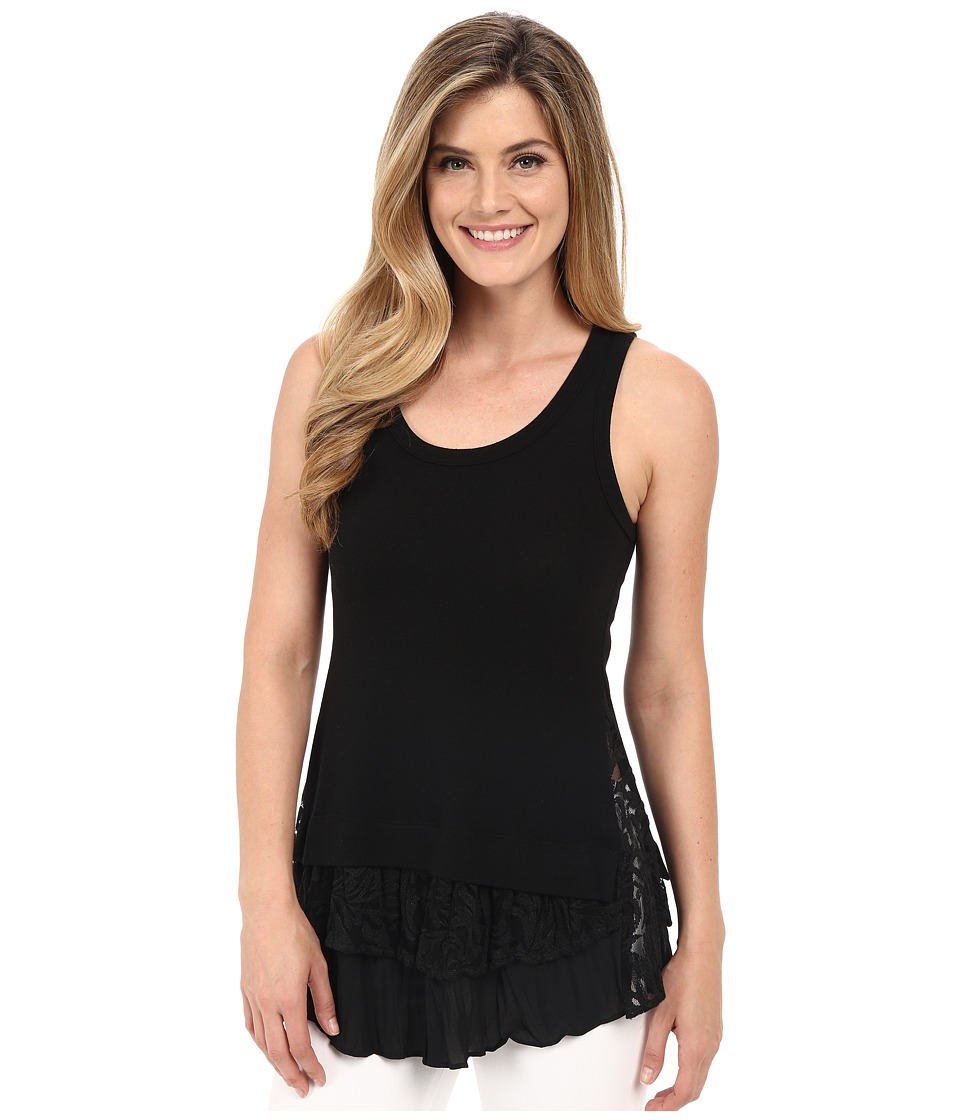 Karen Kane - Lace Inset Tank Top (Black) Women's Sleeveless