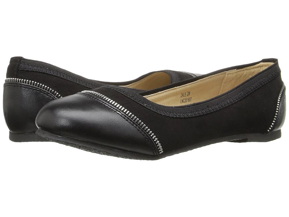 W6YZ - Zale (Little Kid/Big Kid) (Black) Girls Shoes