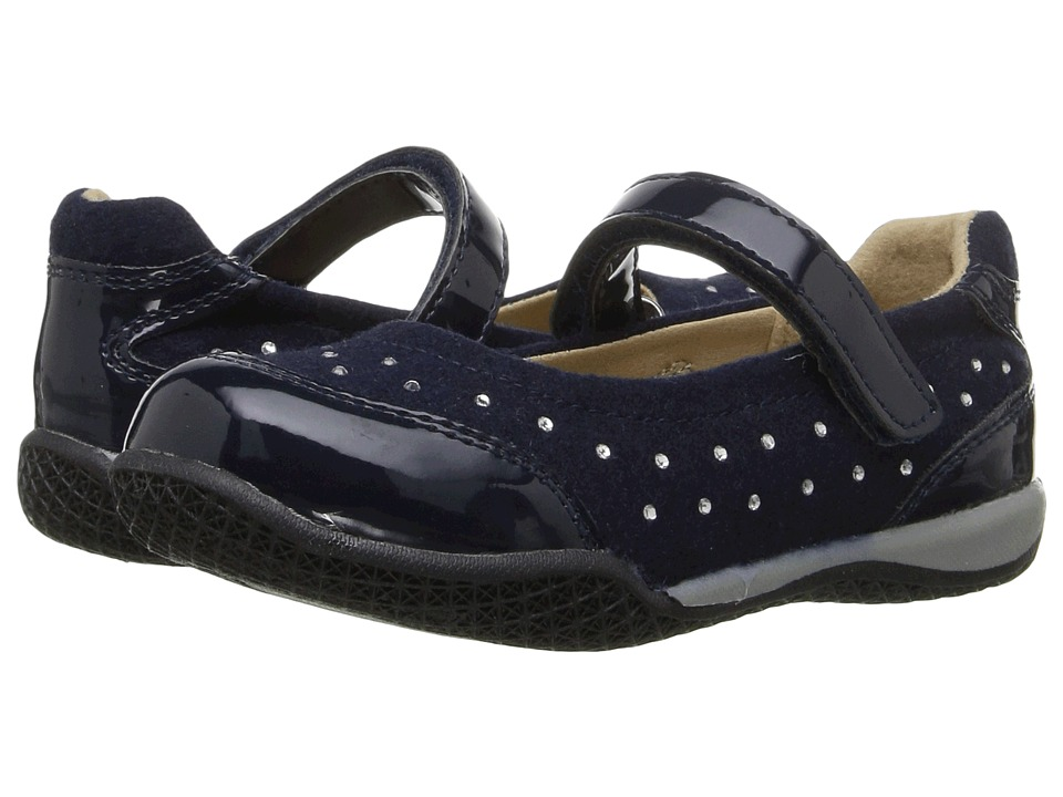 W6YZ - Spade (Toddler/Little Kid) (Navy) Girls Shoes