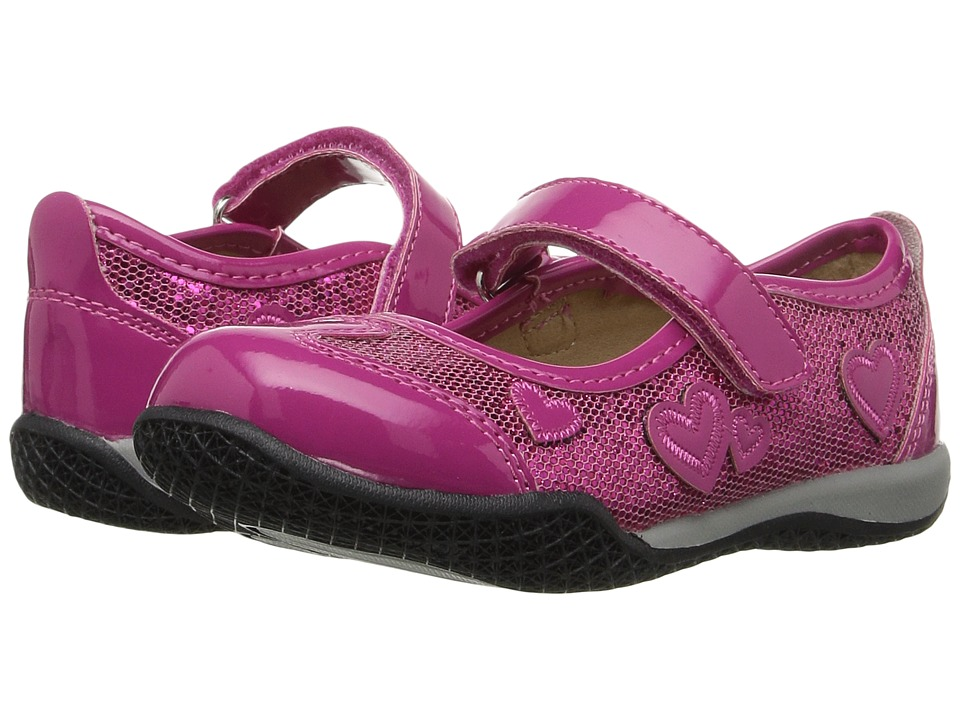W6YZ - Pretty (Toddler/Little Kid) (Fuchsia Glitter) Girls Shoes