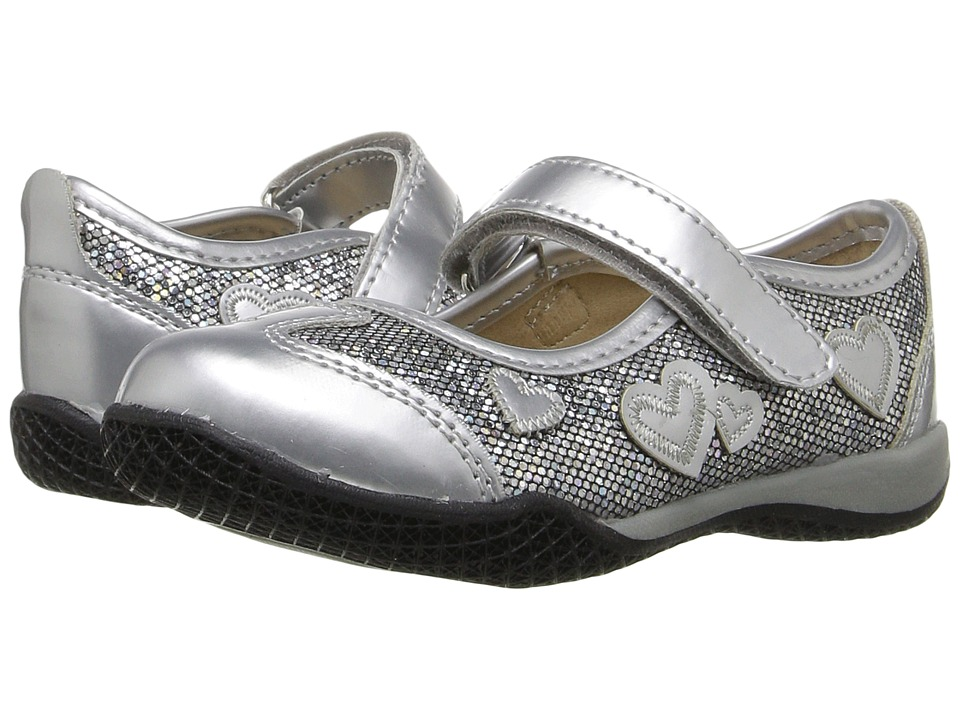 W6YZ - Pretty (Toddler/Little Kid) (Silver Glitter) Girls Shoes